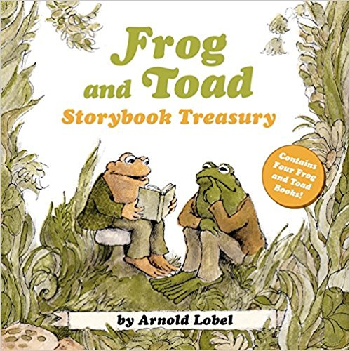 By Arnold Lobel, 2014  This reading collection includes four books:   Frog and Toad Are Friends, 1970  Frog and Toad Together, 1972  Frog and Toad All Year, 1976  Days with Frog and Toad, 1979