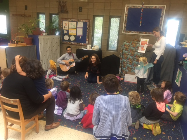 Story time at Noe Valley Nursery School San Francisco