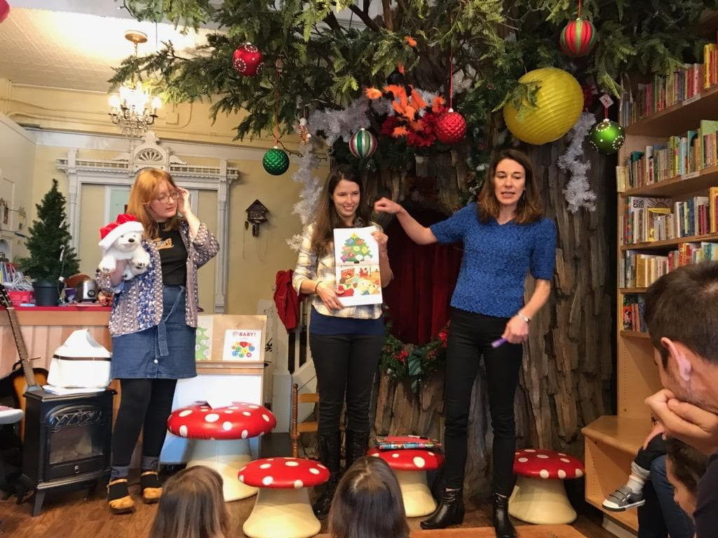 Ten Days Till Christmas author Carine Roch with illustrator Marilia Poggiali