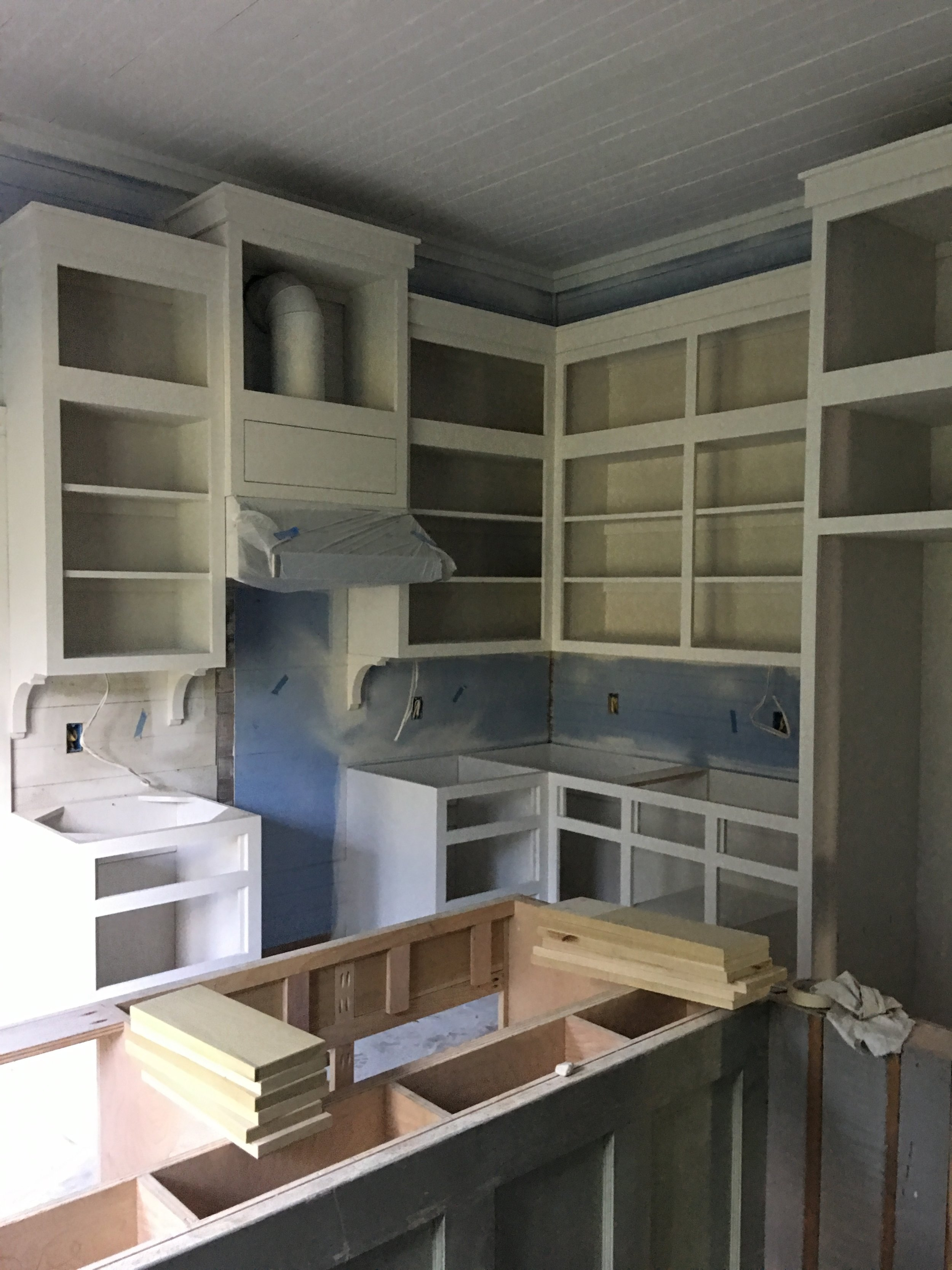 Shealy stove cabinets island IN Progess Painting.jpg