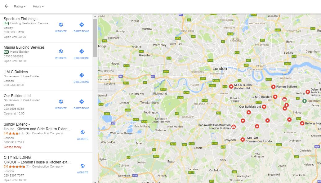 Builders using google