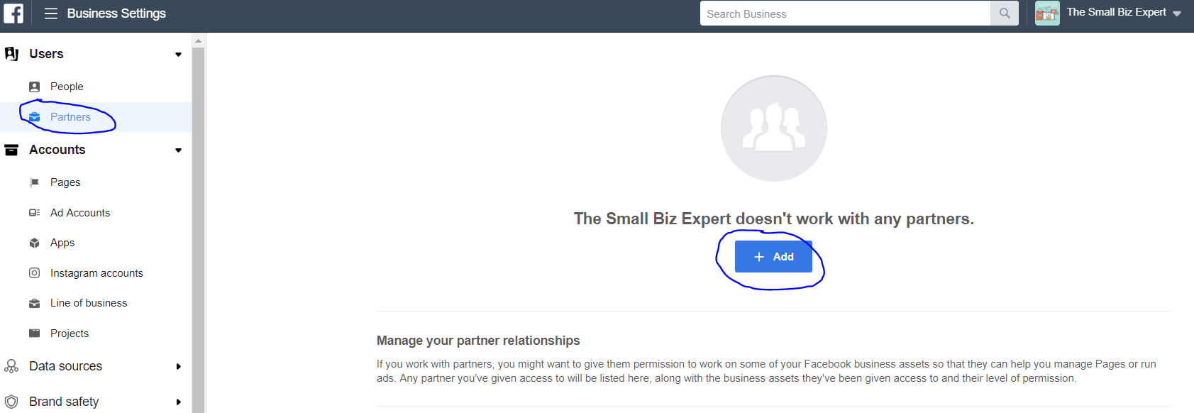 How To Add a partner to Facebook Ads manager