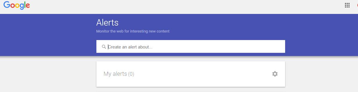 Google Alerts for content ideas
