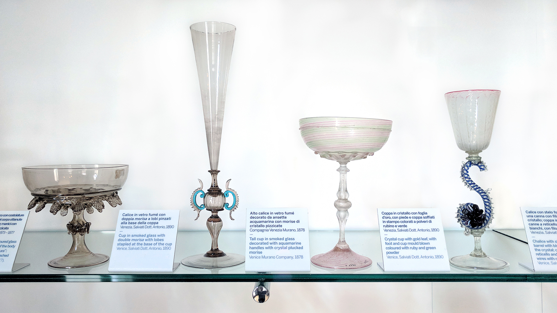 Goblets! Murano is famous for their delicate and ornamental goblet-making techniques.