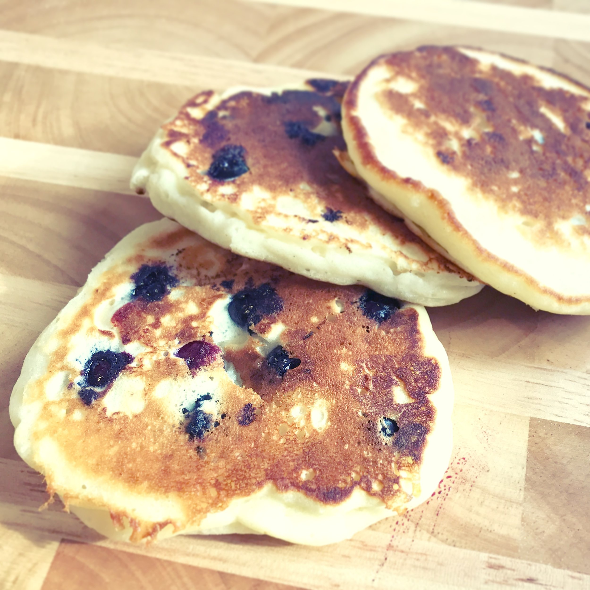 Heck, no-one here is going to judge you for using instant pancake mix, but for the mornings (or nights)when you want to revel in your inner domestic Goddess, here's a yummy pancake recipe that's almost as easy as instant.