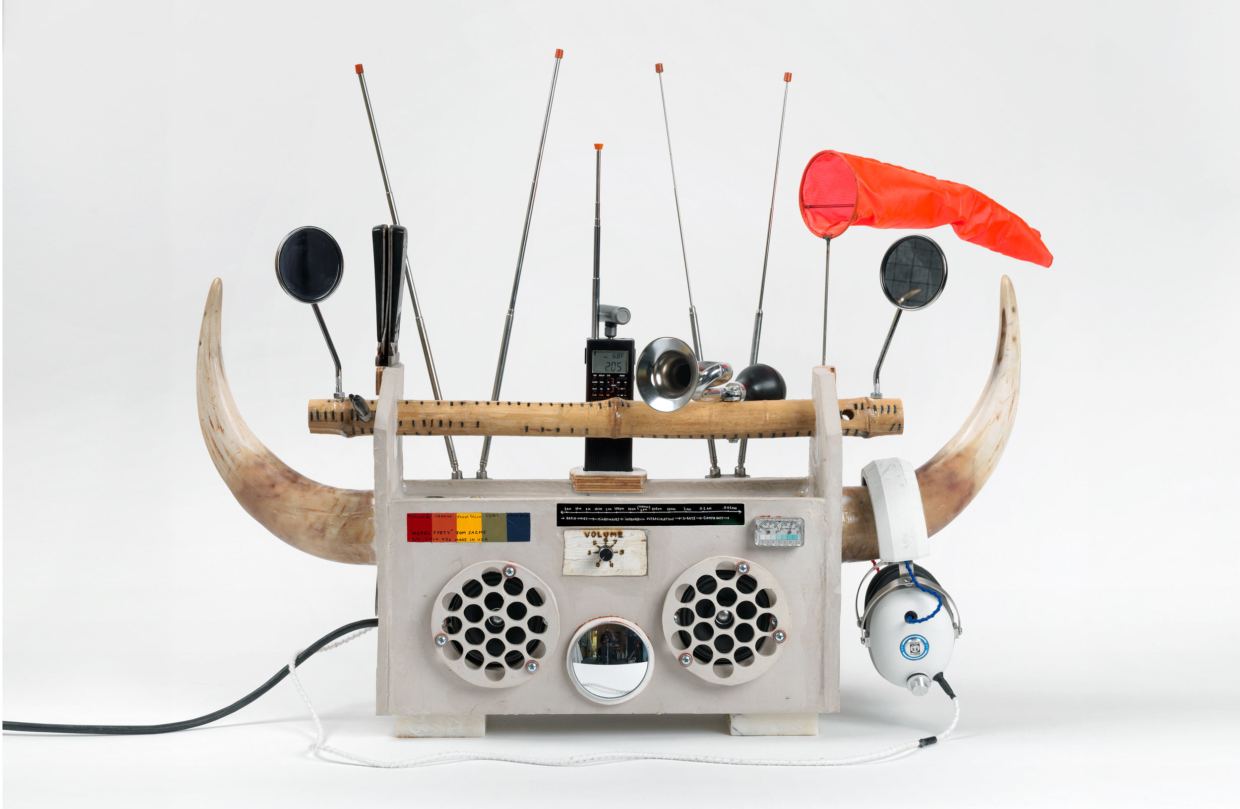 Artist Tom Sachs' Boombox Series: Photo from The Brooklyn Museum