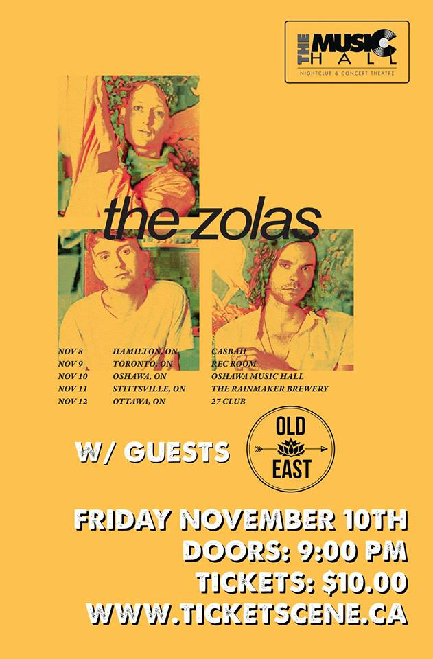 This Saturday, check out Brado's Old East doing their thing with The Zolas and Sylvia Wrath. This is gonna be a good one.
