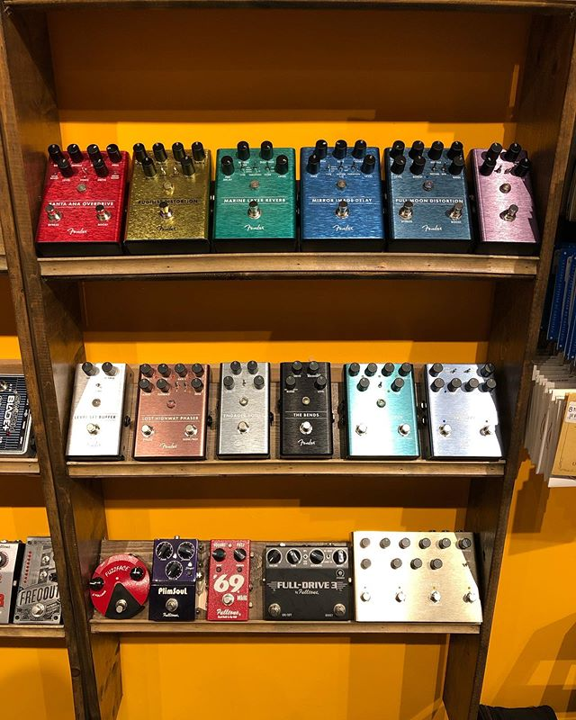 New batch of @fender pedals are back in stock and ready to rock!