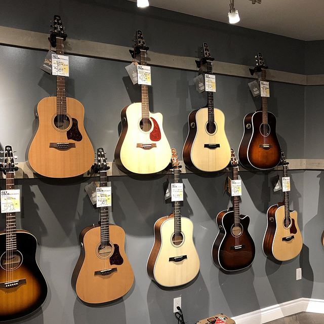 Bunch o birds flyin around in here... We got a wide selection of Seagull guitars in stock, come check em out. And while you're at it, see what's on sale before we move at the end of August!