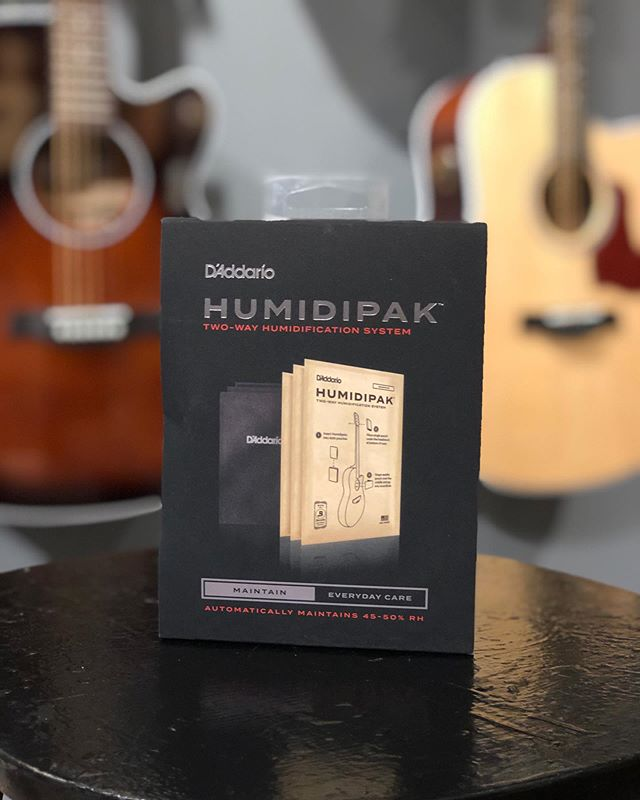 Keeping your acoustic guitar humidified during the dry winter months is important, but did you know you can over humidify your guitar too? With the @daddarioandco Humidipak, your guitar will automatically stay within 45-50% relative humidity, so you don't have to worry about over humidification during the summer months. Come check it out!