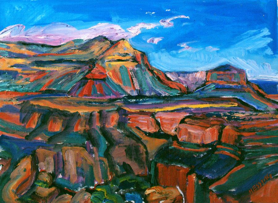 "Jeffrey Hessing  Toroweap  Oil on canvas 12 x 16.25"" JH255"