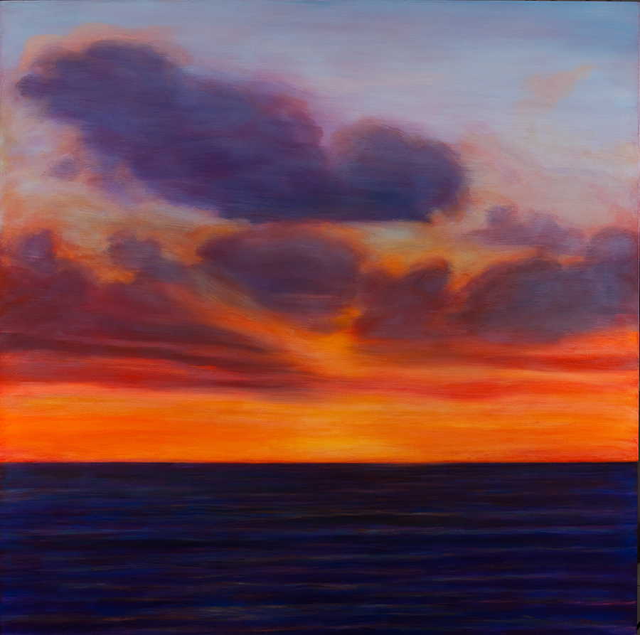 "Jim Schantz  Atlantic Sunrise, Morning  Oil on canvas 48 x 48"" JMS706"