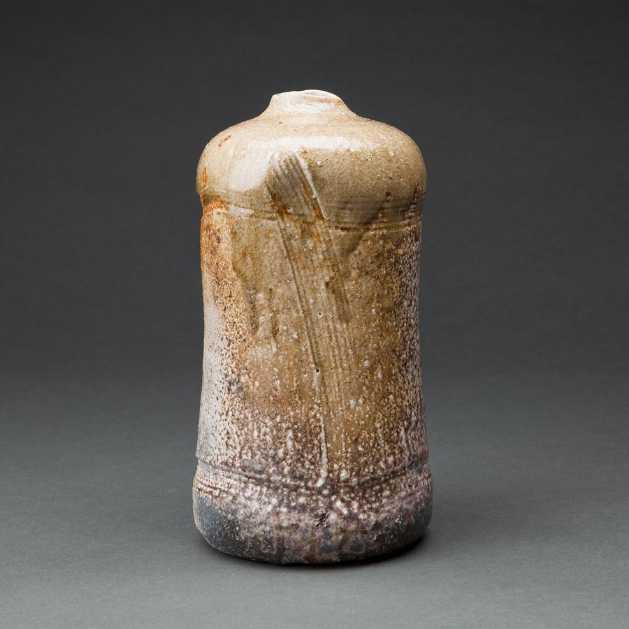 """Jan Kollwitz  Hanaike (Vase for flower arrangement in the tea room)  Stoneware 8.5 x 4 x 4"""" KJ158"""