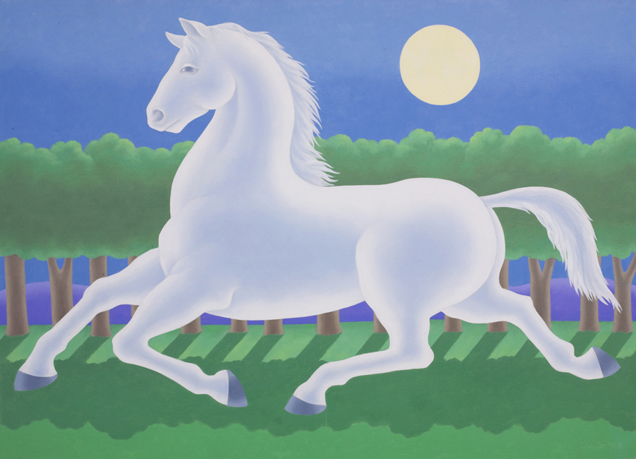 "Gerald Garston  Pale Horse  Oil on canvas 48 x 66"" GP860"