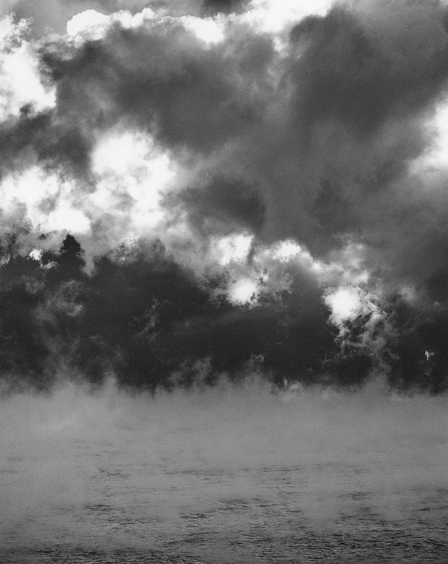 "Alexandra de Steiguer  Arctic Sea Smoke 1  Silver gelatin print 13.25 x 10.25"" image; 22 x 18"" mat AS66"