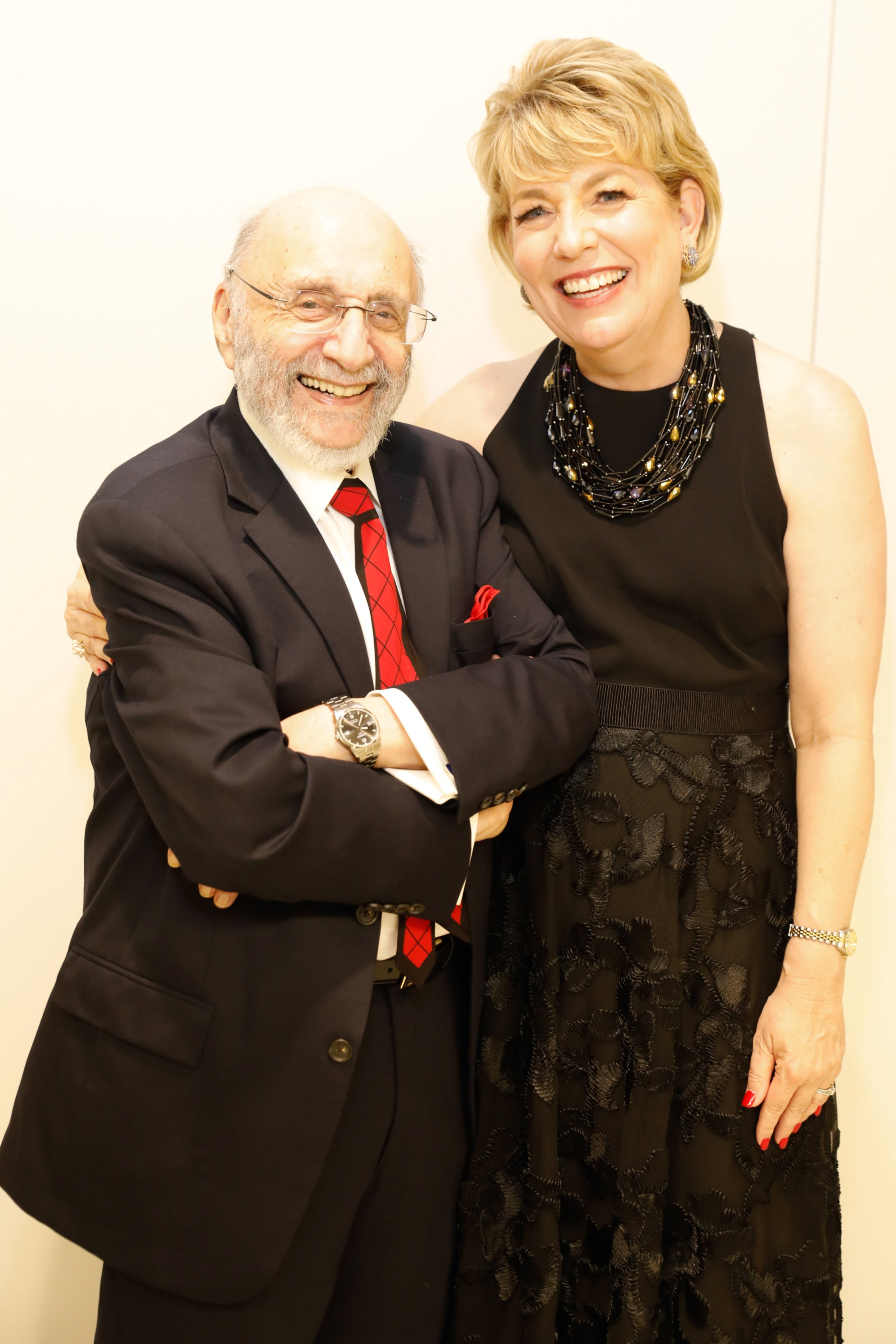 Samuel Bak and HMH CEO Dr. Kelly J. Zúñiga attend the HMH First Look Celebration on 15 June 2019; Photographed by Priscilla Dickson