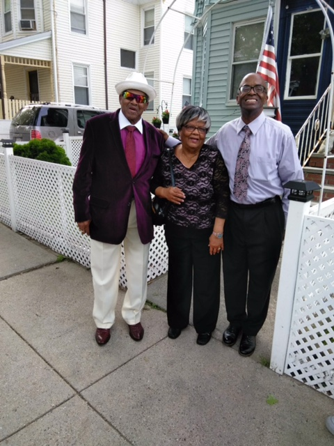 Photo courtesy of Anthony Meeks (right) with his parents just prior to receiving his Community Excellence Award from MJE aboard The Spirit of Boston.