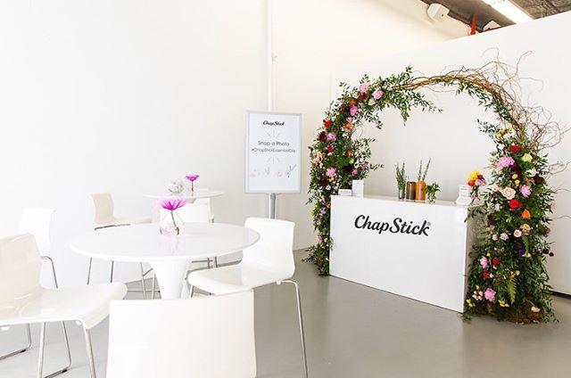 Press & Media Event for Chapstick. The florals... on point. #eventpros #eventproduction . . . #event #experientialmarketing #anotheroneinthebooks #florals #pictureoftheday #photooftheday #eventdesign #rendertoreality #laboroflove