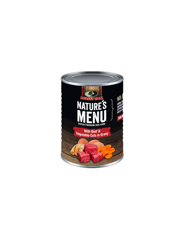 Mossy Oak Natures Menu Super Premium Dog Food - Canned Beef and Veg Cuts.png