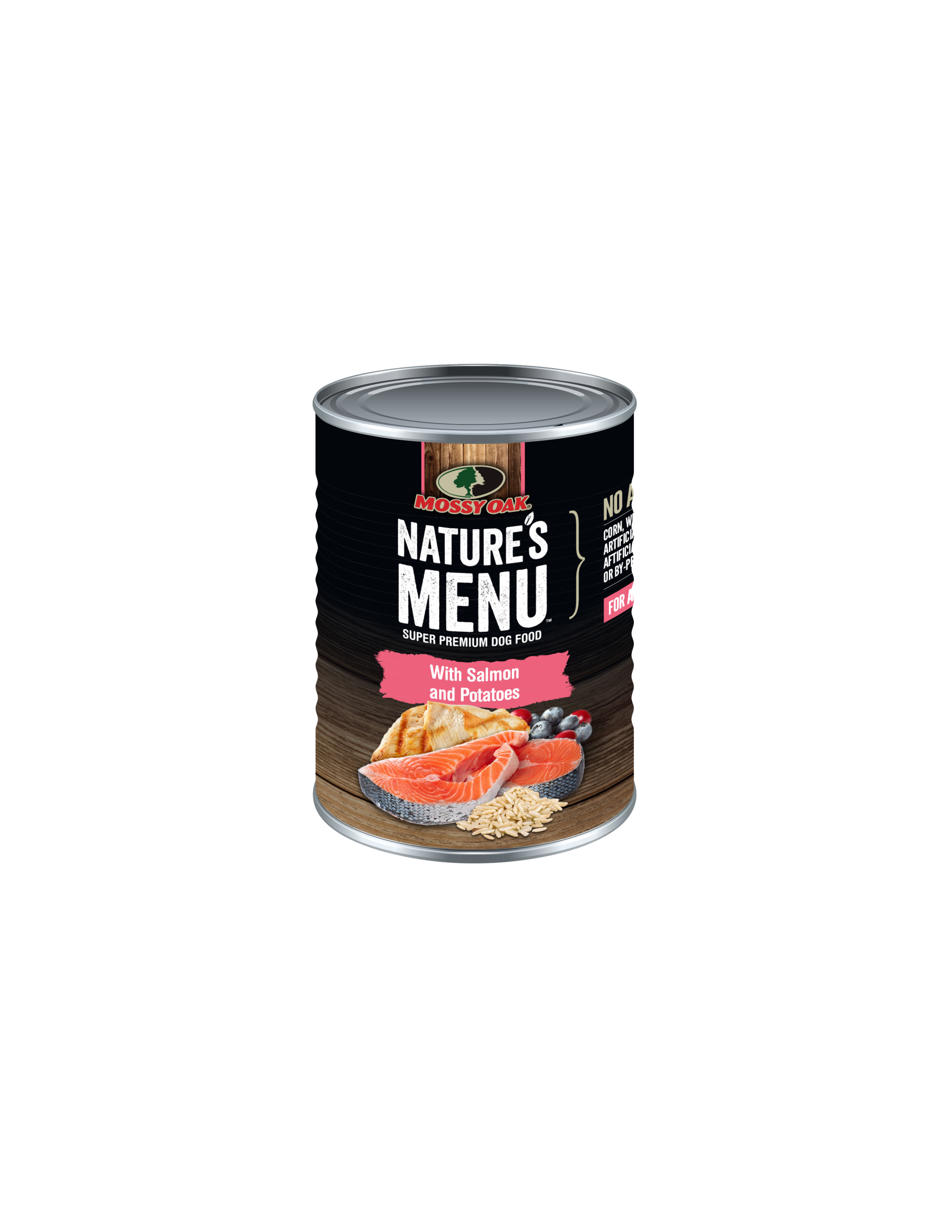 Mossy Oak Natures Menu Super Premium Dog Food - Canned Salmon and Potatoes LARGE.png