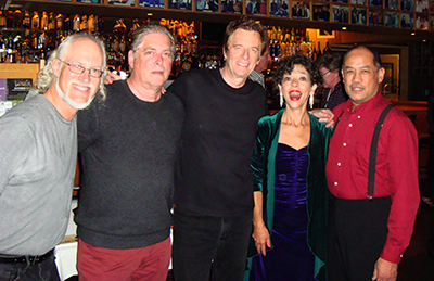 After the show at Yoshi's with Ian Dogole, Concert Film Director Lawrence Jordan, Celso Alberti, Lua and Larry De La Cruz.