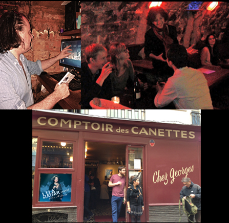 Chez Georges in Paris. The historic underground club has been home to Balzac and stage for Bob Dylan; now World Music Club and Wine Bar