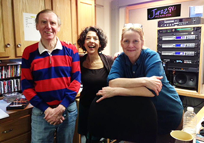 Desert Island Jazz show on KCSM Jazz 91, March 8, 2013, with jazz radio personality Alisa Clancy and producer Michael Burman.