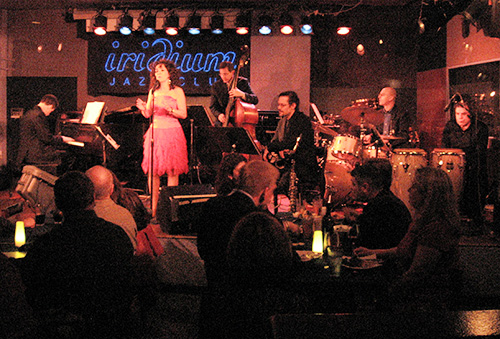 Releasing our 2008 CD,  Lua Hadar with Twist , at the Iridium Jazz Club on Broadway in NYC.