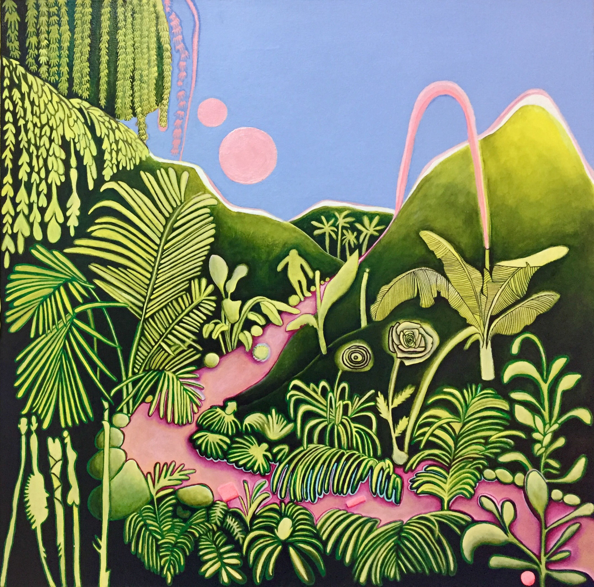 Ana Maria Velasco. La Sierra 2017. Acrylic and plaster on canvas. 11 feet x 6 feet-1.jpg