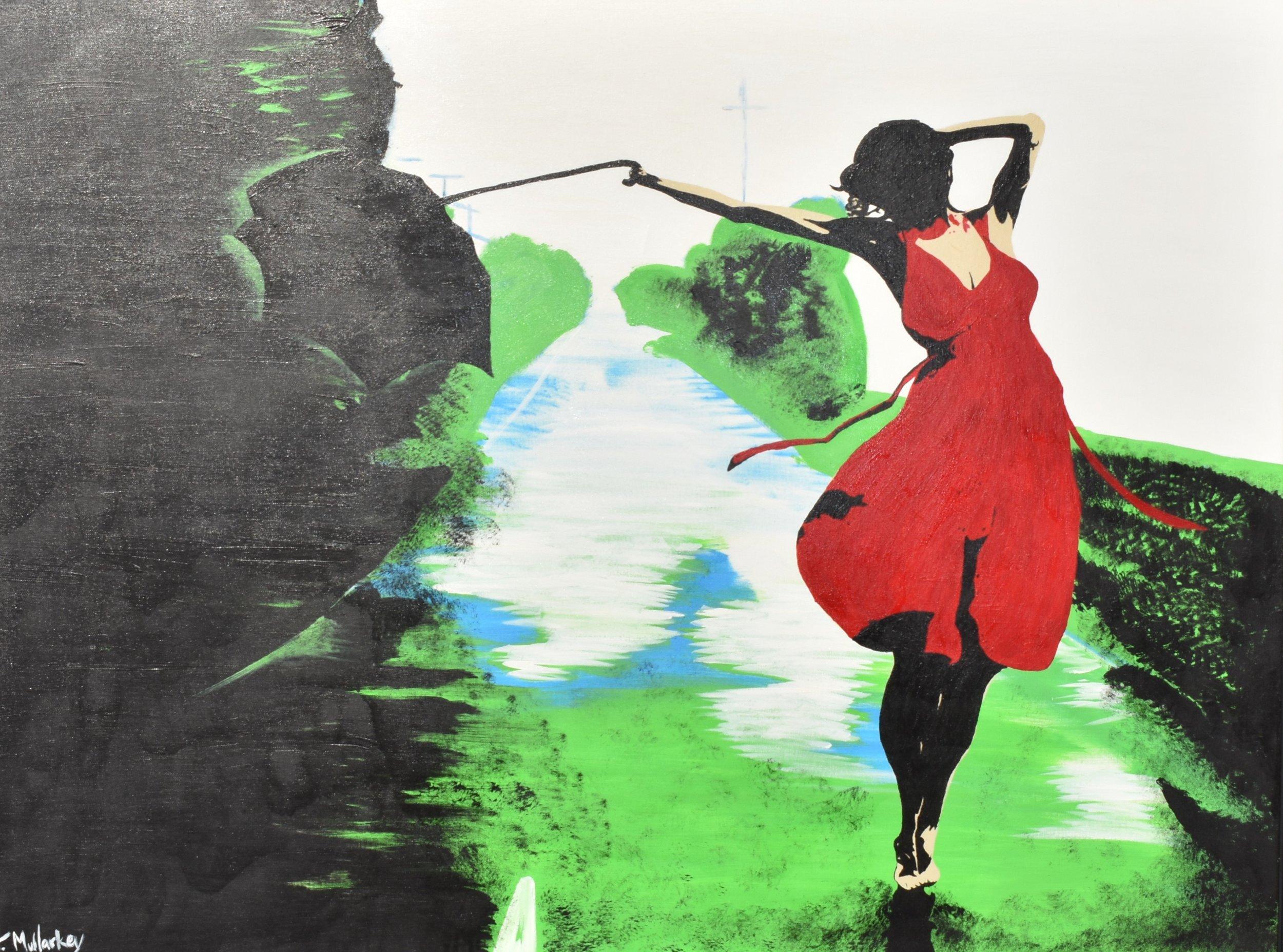 Here comes the rain again , 2013  Acrylic on canvas  36 × 48 in  91.4 × 121.9 cm   Inquire