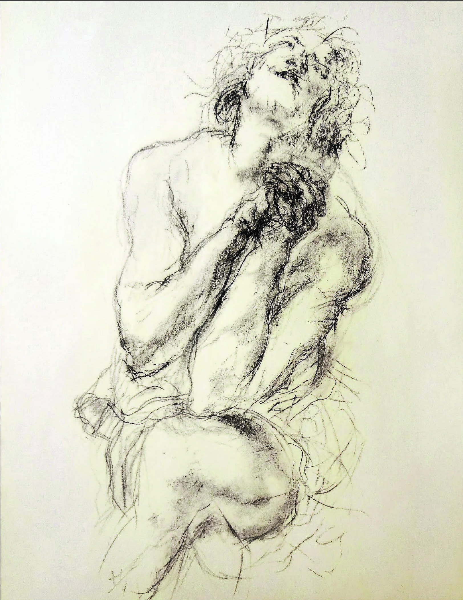 After Rubens - Daniel in the Lion's Den (1577-1640) , N/A  Pencil on drawing  15 × 10 1/2 in   Inquire