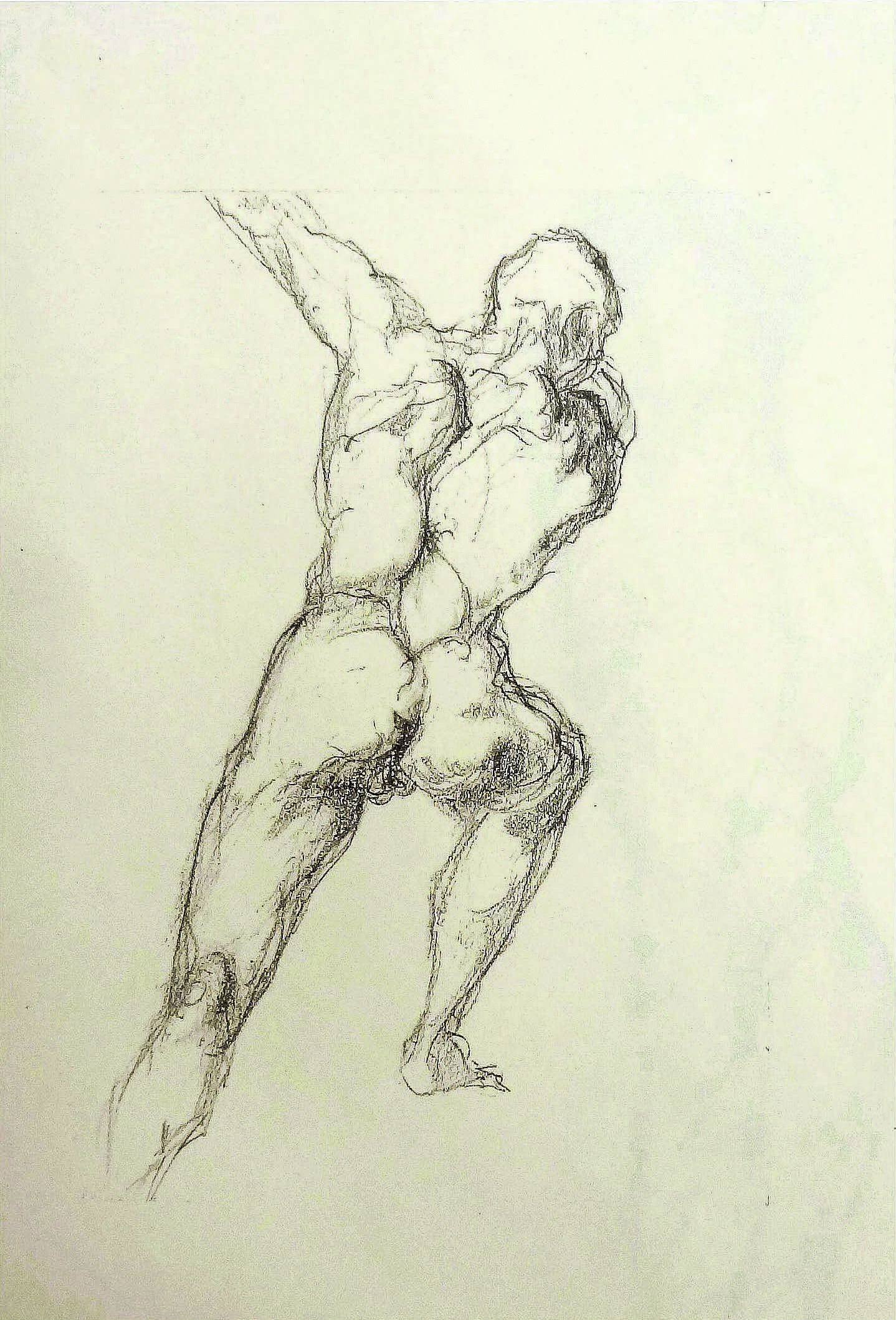 Hellenistic Adoration of the male body - Study , N/A  Pencil on drawing  17 1/2 × 12 in   Inquire Original