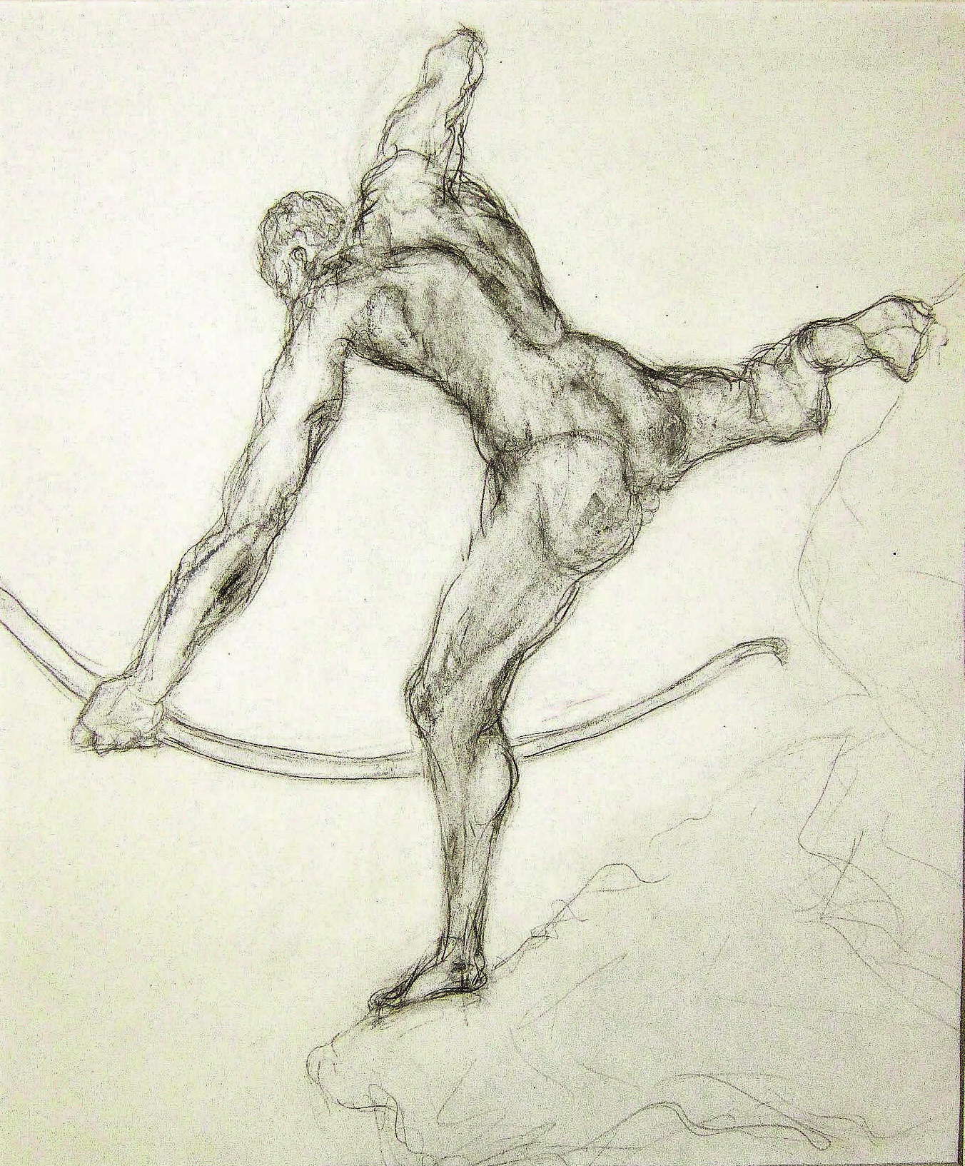 After Antoine Bourdelle (1861-1929) - Hercules the Archer , N/A  Pencil on paper  13 × 15 1/2 in   Inquire Original    Inquire Print