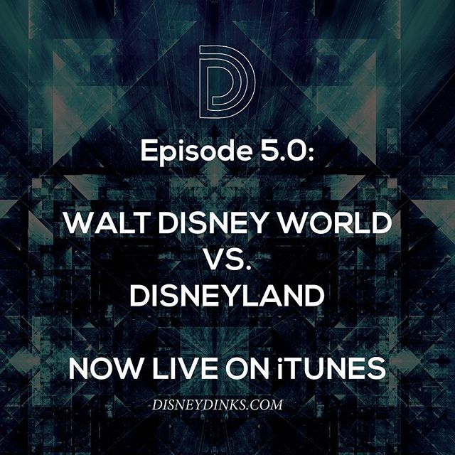 Celebrate the 62nd anniversary of #disneyland by comparing it ride-by-ride, feature-by-feature with #disneyworld on the @d1sneydinks podcast!