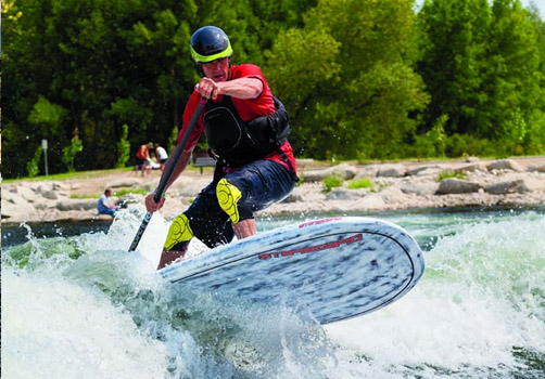 The Boise Whitewater Park is available for a variety of board & boat sports.