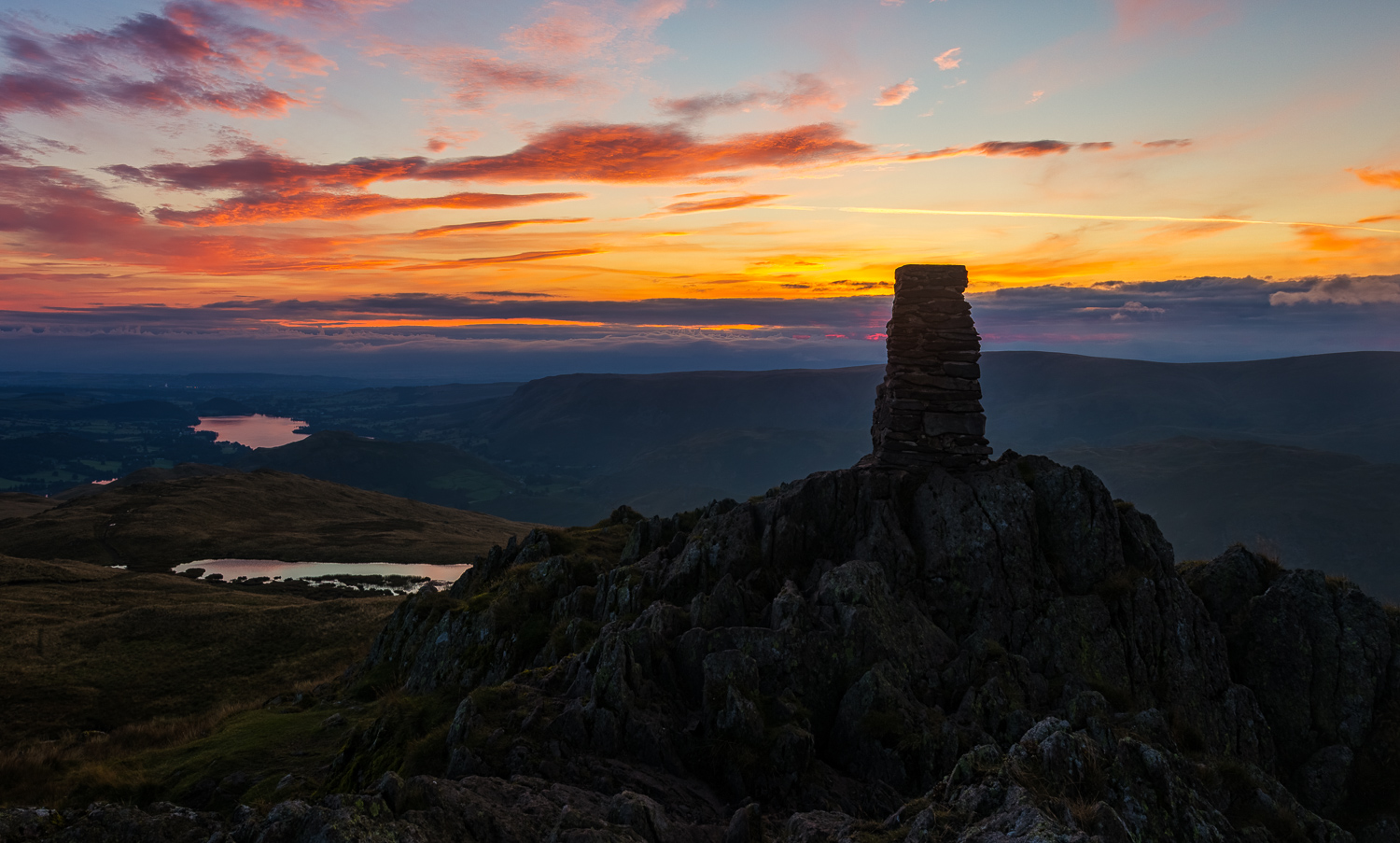 Sunrise from the top of Place Fell.  Canon 6d, Canon 24-70mm f/4L IS USM @24mm, f/11, ISO 100, 1/13s, CPL.