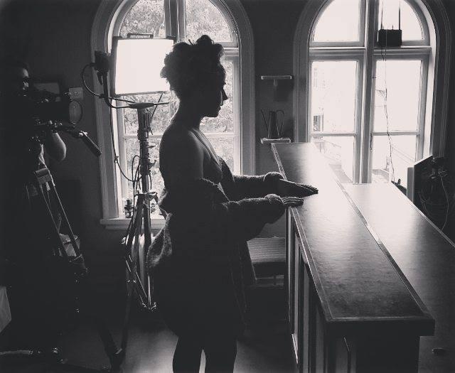 dancer, black and white, music video, Una Stef, Díana Kristins