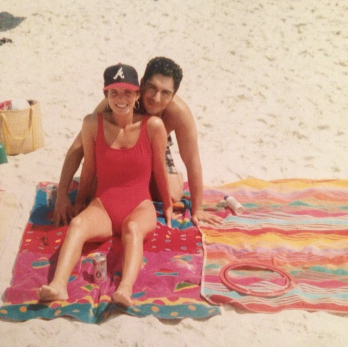 inspiration... - my mom in 1993, rocking this exact same swimsuit.