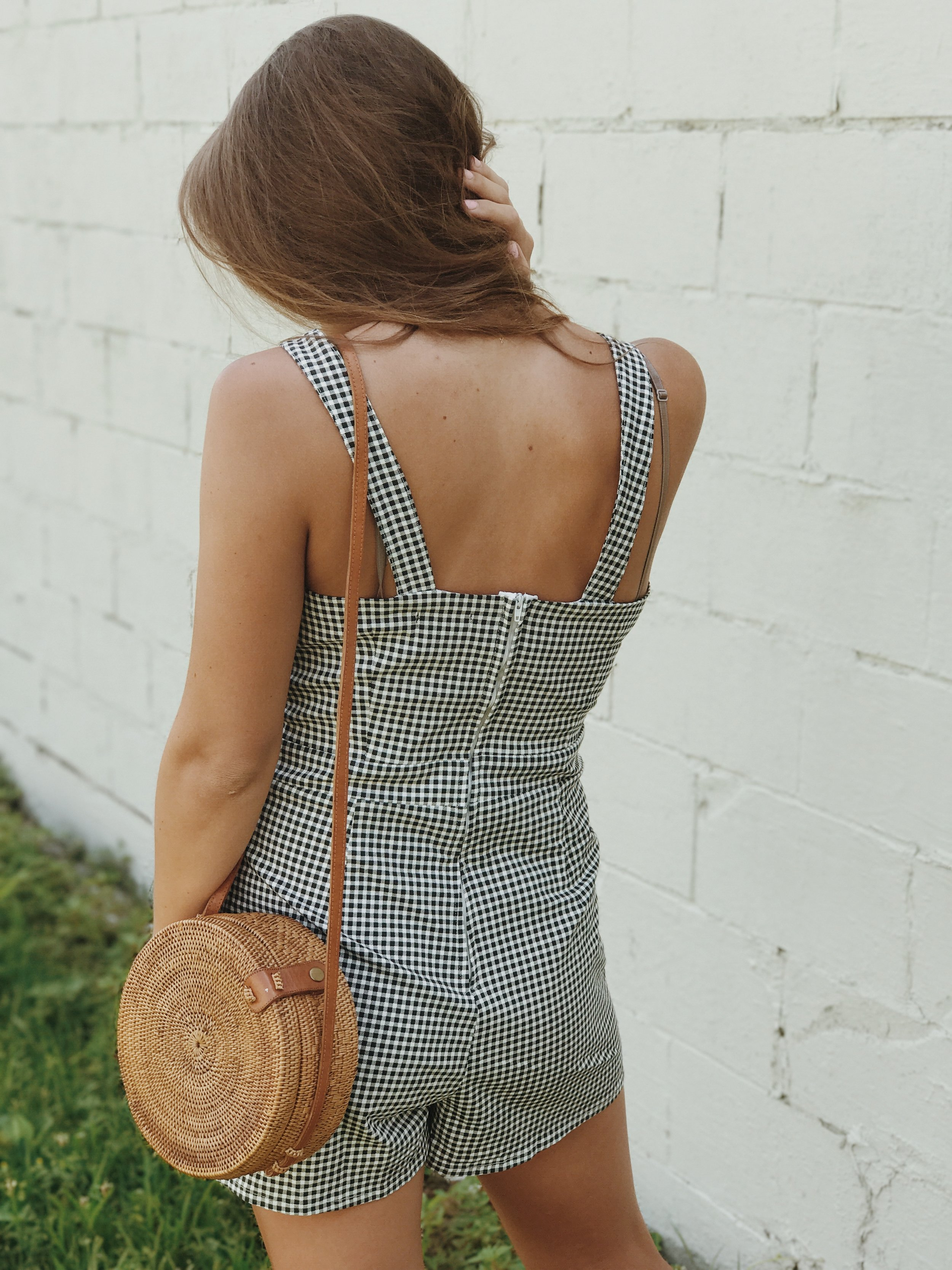 shop  - gingham romper.