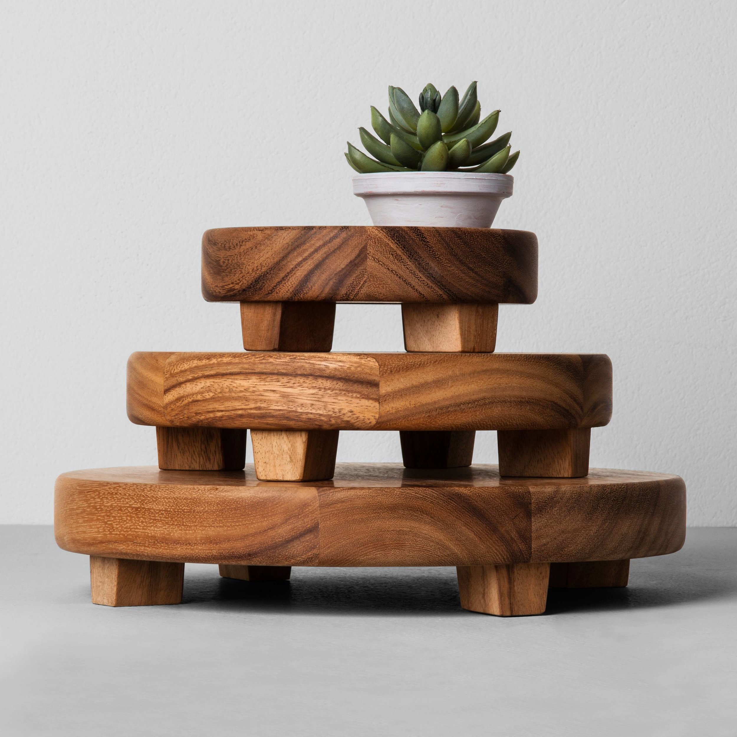 Wooden Tray  - These stacked wooden trays are great as an accent piece throughout your house to display your favorite knick backs or used as a platter to host your next get together.