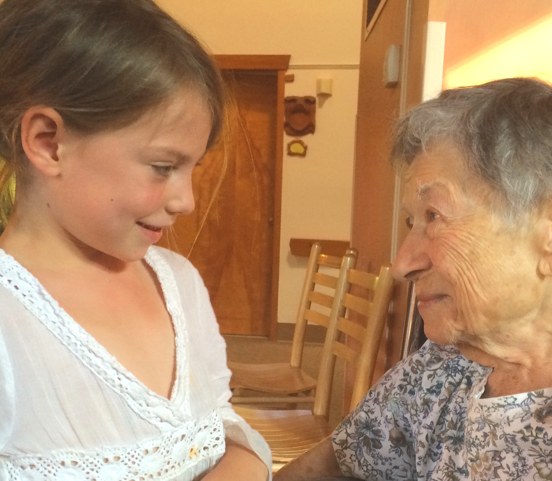 Doris with one of the coworkers children, at the Fellowship Community