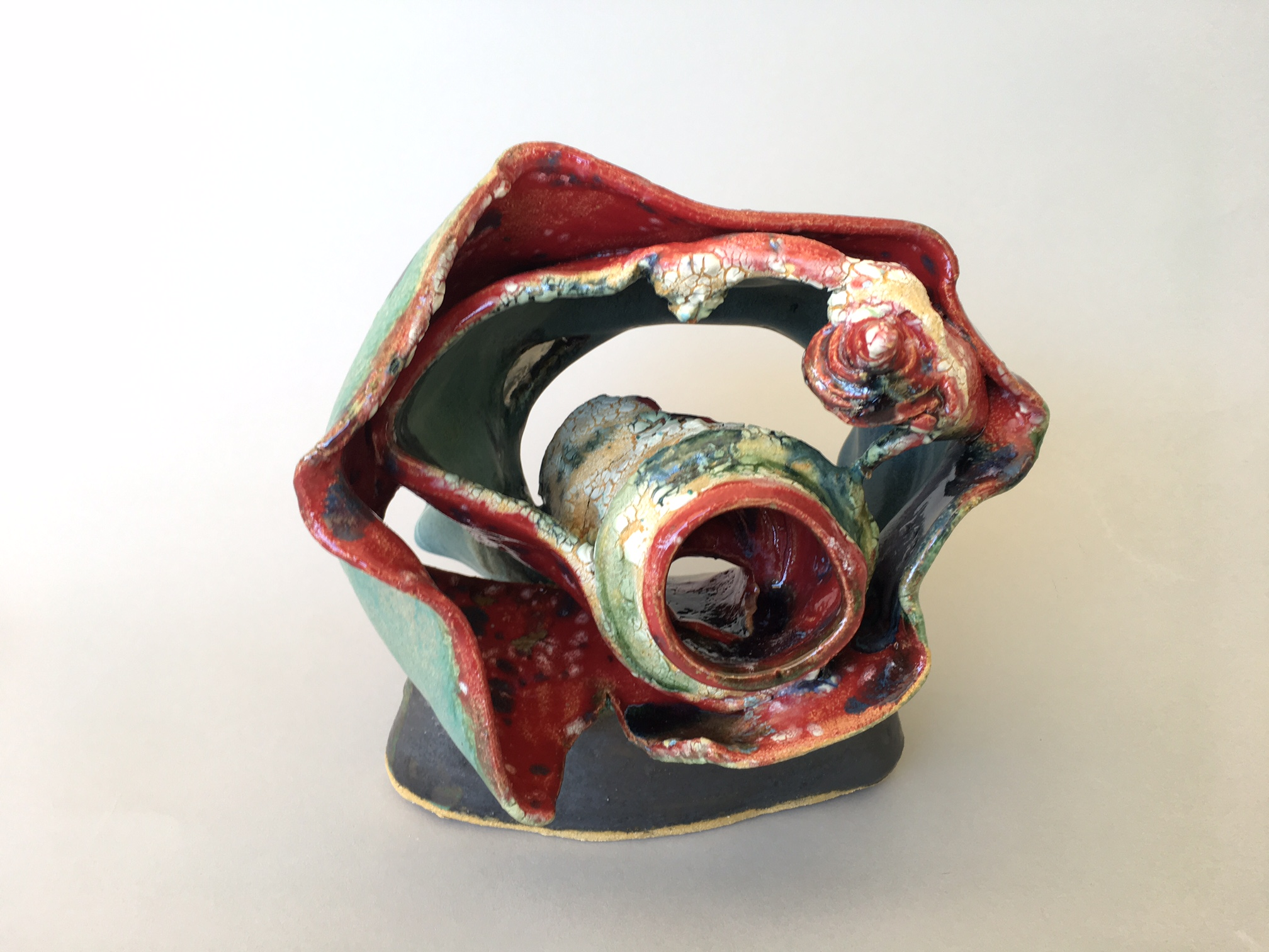 Abex #2 (Abstract Expressionism) - Glazed Ceramic$700Multiple forms put together to create abstract expressionism form