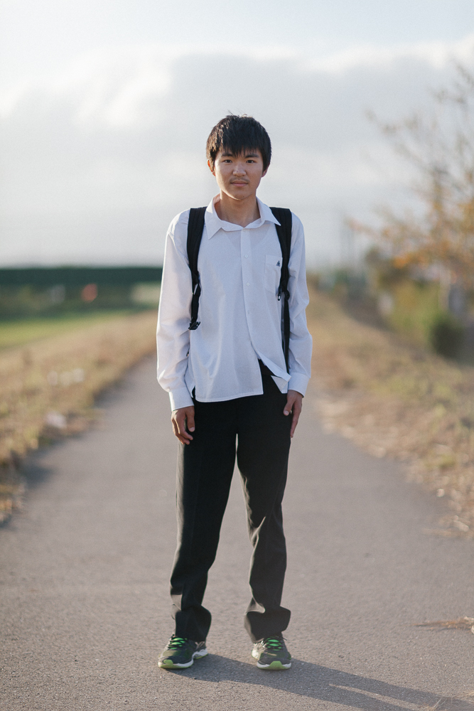 Iwasa (not complete name),  16 years old, he enjoys playing baseball as a hobby, and he sees himself in the future as a doctor.