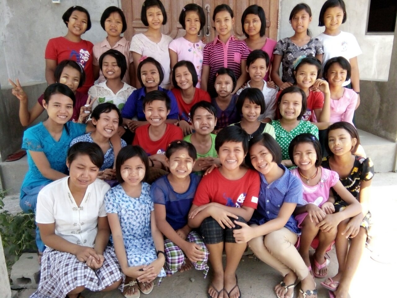 OUR YANGON GIRLS. THEY ARE ALWAYS READY TO HAVE THEIR PHOTO TAKEN.