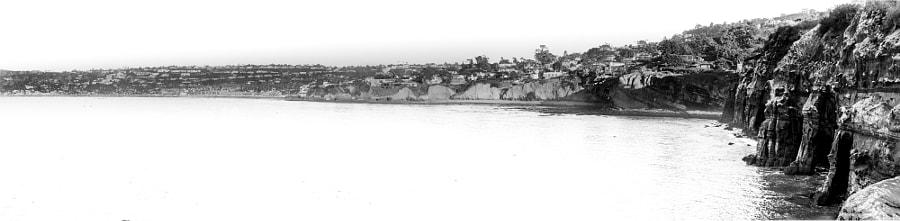 la Jolla Cove Panorama in Black and White