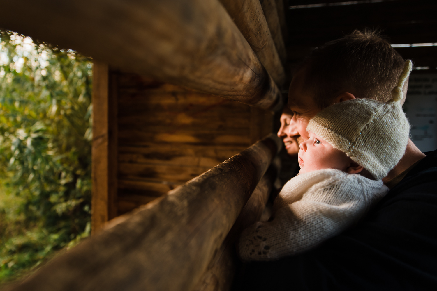 A view from the bird hide - natural newborn photography Cambridge Cambridgeshire