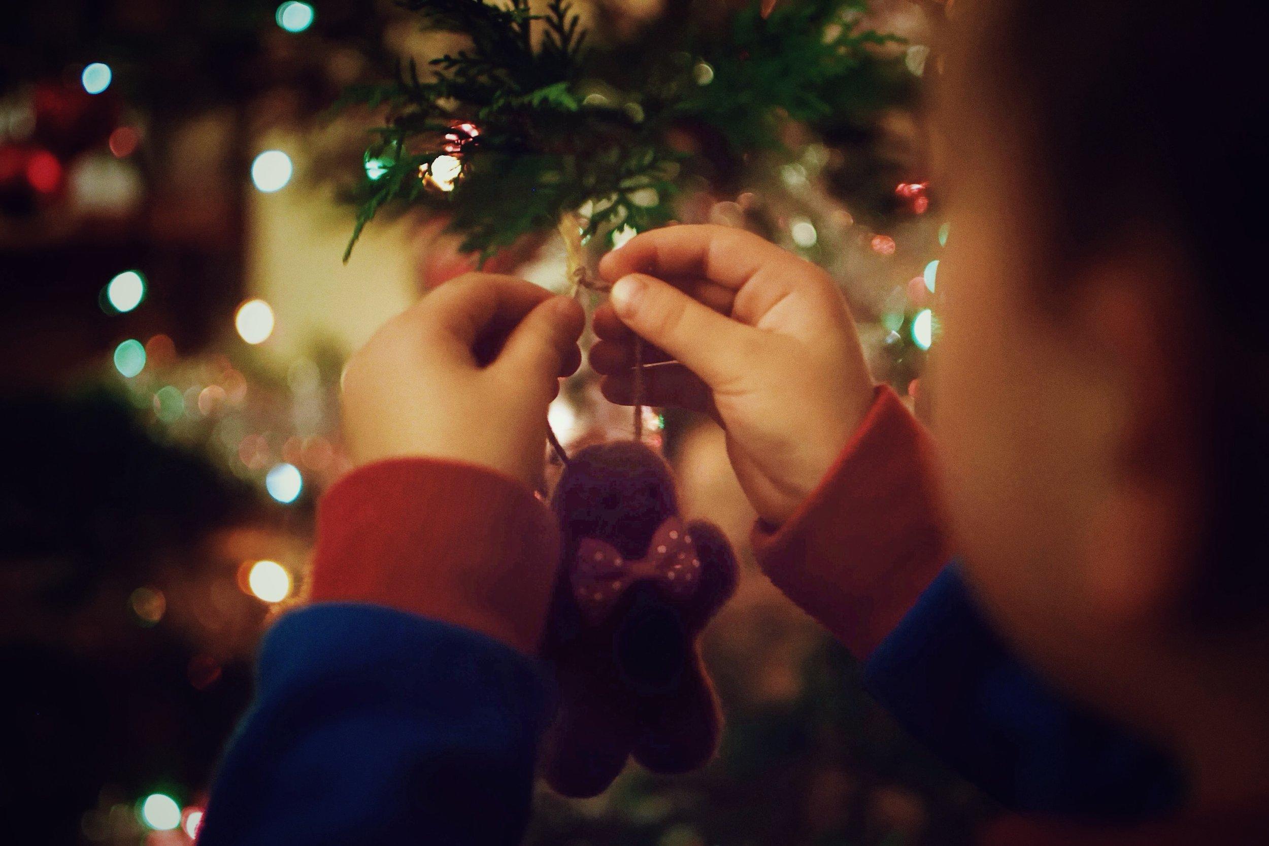 Christmas tree decoration - Cambridge Storytelling Photography