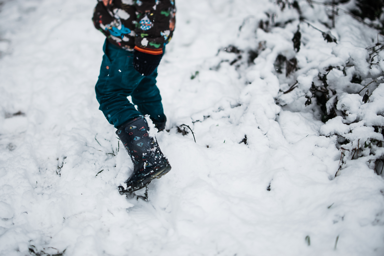 Wellies in the snow - Cambridge photographer Diana Hagues