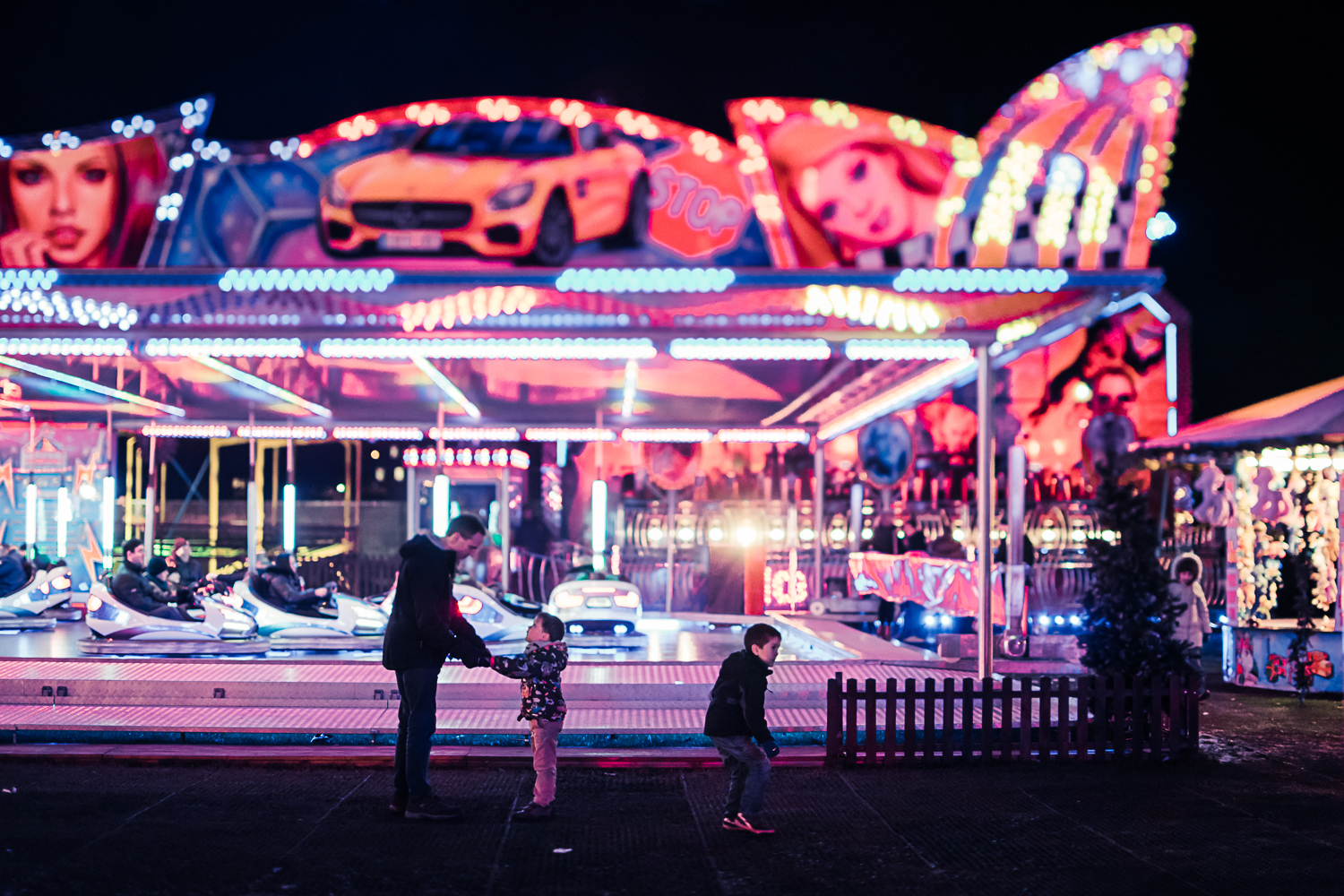 Dodgem cars - Cambridge North Pole Winter Festival