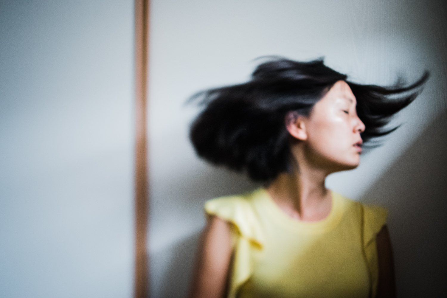freelensing self-portrait abstract lines Diana Hagues Photography